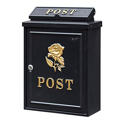 Hai Yan Boutique mailbox Mailbox - Galvanized Sheet, European Pastoral Creative British Outdoor Wall With Lock Rainproof Mailbox, Suitable For Villas, Courtyards, Homes - A Variety Of Patterns ()