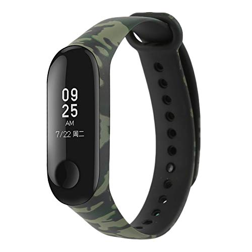 MStick Green Camouflage Silicone Camouflage Army Style Band Strap for Xiaomi Mi Band 3 (B07H5KHHXK) Amazon Price History, Amazon Price Tracker