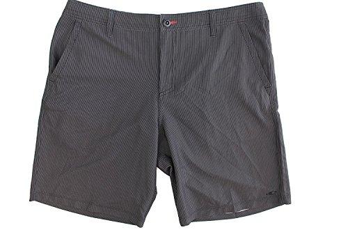 O'Neill Men's Riley Hybrid Black Striped Boardshort (30, Black Stripe)