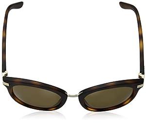 DKNY Women's Injected Woman Round Sunglasses, Dark Tortoise, 52 mm