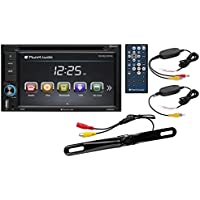 Planet Audio P9628BWRC Double Din, Touchscreen, Bluetooth, DVD/CD/MP3/USB/SD AM/FM Car Stereo, 6.2 Inch Digital LCD Monitor,  Wireless Remote, Wireless Rearview License Plate Mount Camera Included