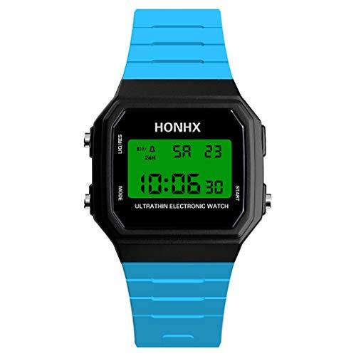 SPORTTIN Mens Classic Digital Sport Watch with Resin Strap(Sky Blue)