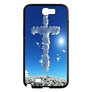 C-EUR Diy Phone Case Jesus Christ Cross Pattern Hard Case For Samsung Galaxy Note 2 N7100