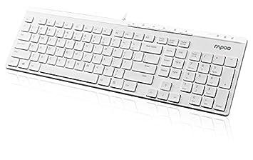 Rapoo N7000 ultraschlanke kabelgebundene Tastatur: Amazon.de ...