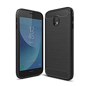 info for 9e42f bb6fa SDTEK Case for Samsung Galaxy J3 (2017) [ULTRA LIGHTWEIGHT] Slim Shockproof  [Silicone+Carbon Fibre TPU] Cover for Samsung Galaxy J3 (2017)