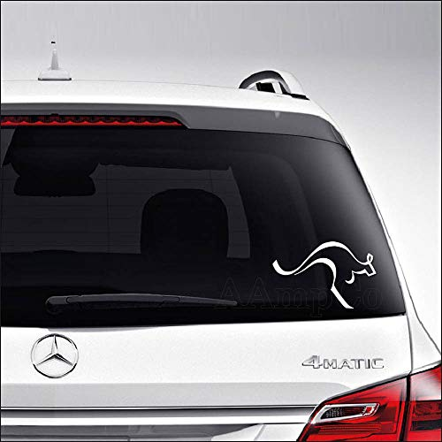 (Aampco Decals Kangaroo Hopping Australia Car Truck Motorcycle Windows Bumper Wall Decor Vinyl Decal Sticker Size- [6 inch/15 cm] Wide/Color- Matte White)