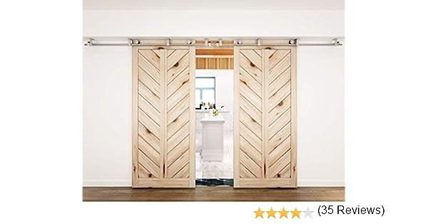 Soporte de techo para puerta corrediza de granero madera pista de Acero Inoxidable Hardware: Amazon.es: Bricolaje y herramientas