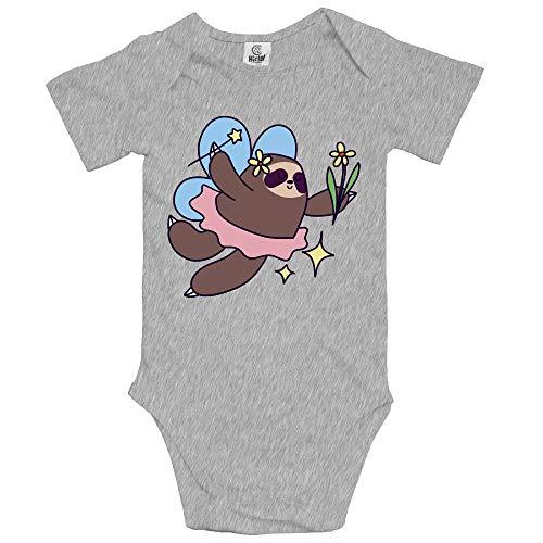 VHGJKGIN Fairy Sloth Cute Baby Onesie Bodysuit -