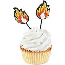 Fun Express Fire Cupcake Food Picks - 25 Pieces