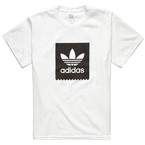 ADIDAS Basic Blackbird Boys T-Shirt, White, Small