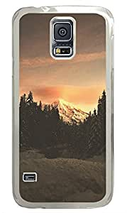 Samsung Galaxy S5 landscapes nature snow mountain 35 PC Custom Samsung Galaxy S5 Case Cover Transparent