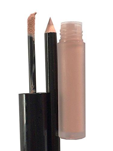 Full Size Long Lasting Natural Tones Nude Pink Lip Pro Matte Liquid Stick Lip Stain Lip Gloss Lip Liner Pencil Duo Set -