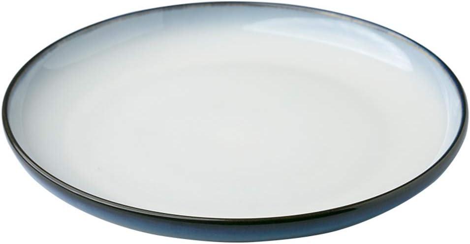 Silai Western Restaurant, Plato para Pasta, Plato de Cocina Occidental, Plato para Carne y Pasta, Plato para el hogar, Cocina, vajilla Western Creative Ceramic Plate, Porcelana, Azul, 28CM*3.3CM: Amazon.es: Hogar
