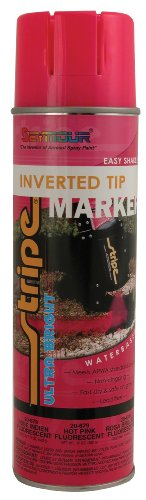 Seymour 20-679 Stripe Inverted Tip Marker, Pink Fluorescent -