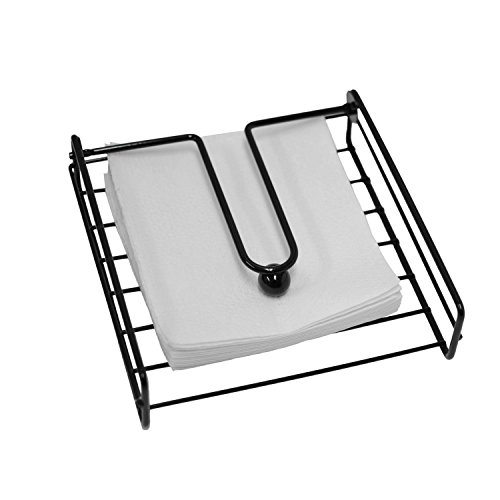 - Oasis Collection Napkin Holder with Metal Weight Ball, NH029793, Black