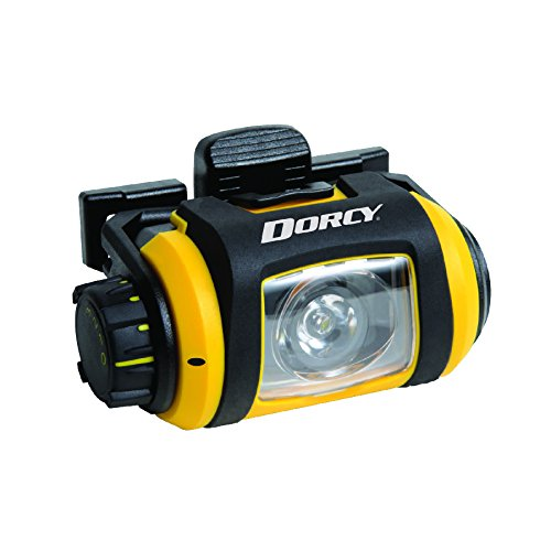 (Dorcy Pro Series 200-Lumen Water Resistant LED Headlight with 180-Degree Swivel and 3 Brightness Levels, Yellow and Black (41-2612))