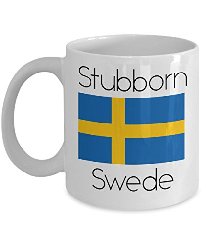 Sweden Coffee Mug - Novelty Funny Swedish Flag Tea Cup For Swedes - Best Birthday & Christmas Gift For Men & Women With Scandinavian Heritage Pride - Proud Nordic Viking Lover Accessories -