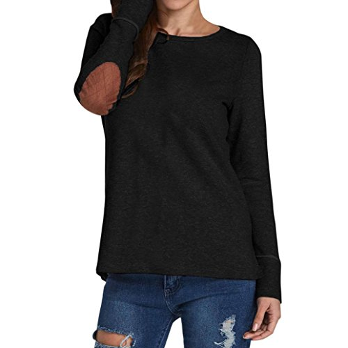 Goddessvan Womens Tops,Autumn Casual Loose Long Sleeve Round Neck Button Sweatshirt Pullover