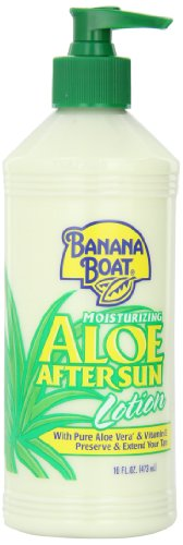 Banana Boat Aloe Vera Sun Burn Relief Sun Care After Sun Lotion - 16 Ounce (Pack of 4) (Banana Boat Moisturizing Aloe After Sun Lotion)