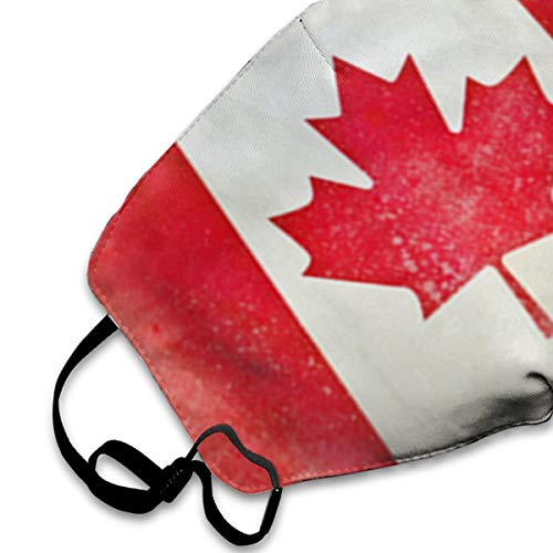 NOT Canadian Flag Fish PM2.5 Mask, Adjustable Warm Face Mask Unique Cover Filters Blocking Pollen Pollution Germs,Can Be Washed Reusable Pollen Masks Cotton Mouth Mask for Men Women