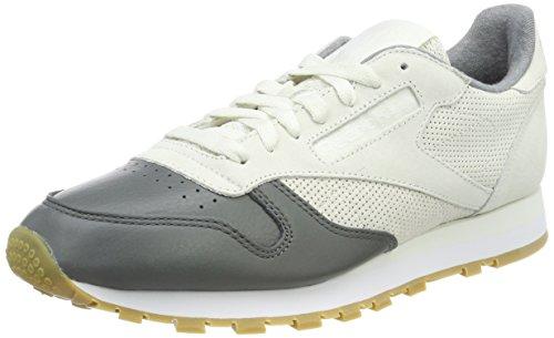 Cuir Reebok Herren Classique Ls Chaussure Grau (craie / Alliage White-gum)