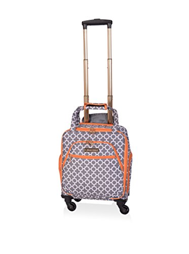 fc69e512b2e0 Jenni Chan 0120015SGRE Aria Broadway 15-Inch Spinner Tote, Grey, United  States Carry-On