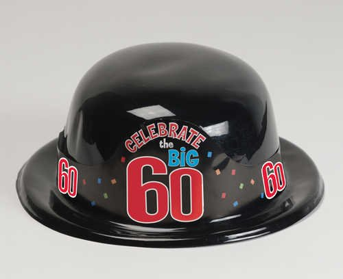 Celebrate The Big Sixty Plastic Derby Hat Milestone Birthdays Theme Parties