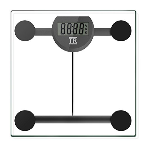 Body Weight Scale, TechRise High Precision Digital Bathroom Scale, Electronic Scale with Step-on Technology, Backlit LCD Display