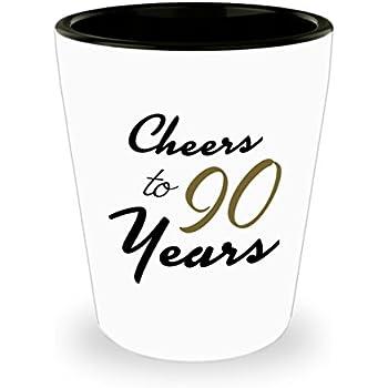 90th Birthday Shot Glass