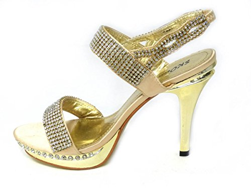 3 7 Sko's 5 Sposa Motivi Da Misura Donna Tacco Diversi Alto Diamante Ballo 8551 Sera 6 4 8 8 Gold Scarpe qq7CFa