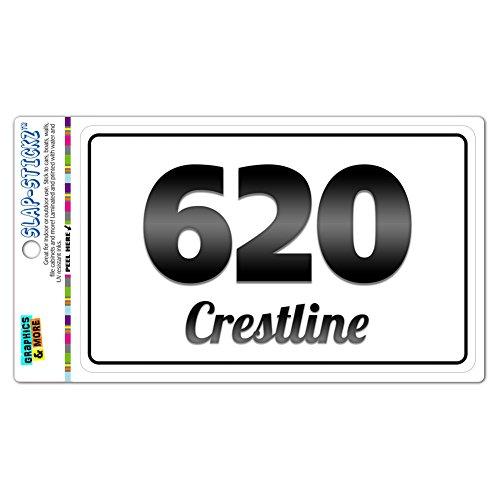 Area Code B&W Window Laminated Sticker 620 Kansas KS Abbyville - Crestline - Crestline