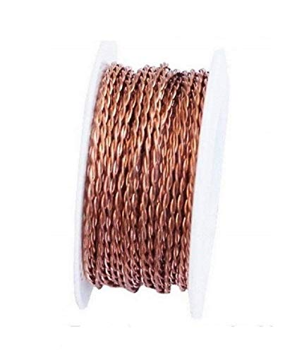 (Bare Copper Twisted Wire 18 Ga 10 Ft Spool (Soft))