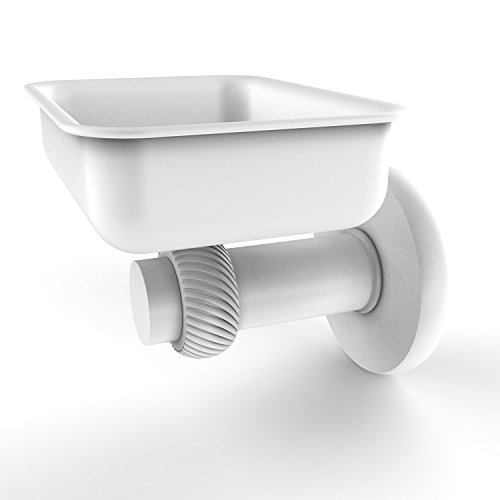 Allied Brass 932T-WHM Mercury Collection Wall Mounted Soap Dish with Twisted ()