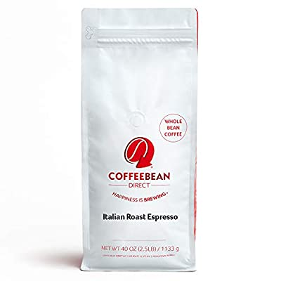 Coffee Bean Direct Italian Roast Espresso, 2.5 Pound by Coffee Bean Direct