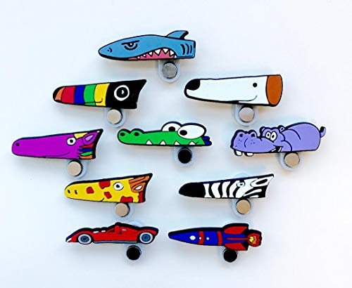 Hungry Cutters Scissor Magnet (Right Hand) Preschool Kindergarten Students, Classroom Scissor Skills Activity Tool for Fun Imaginative Arts and Crafts.Great Gift for boy Girl Teacher or Therapist!