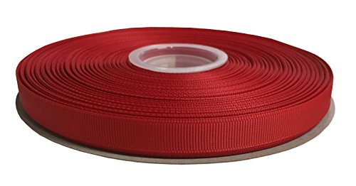 Duoqu 1/2 Inch Wide Grosgrain Ribbon 50 Yards Roll Multiple Colors (Red)