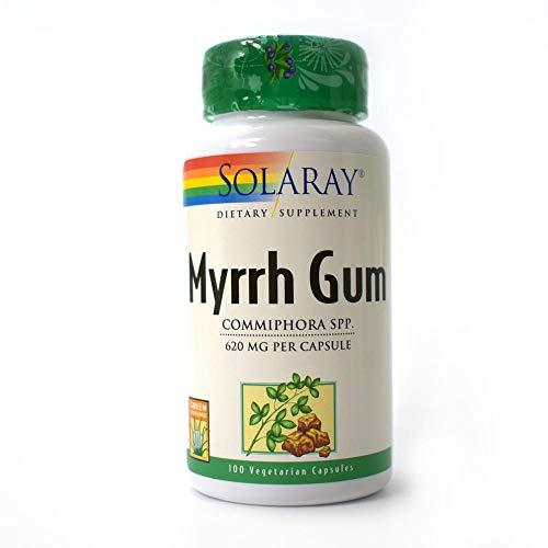 Myrrh Gum - Solaray Myrrh Gum Capsules, 620 mg, 100 Count (2 Pack)