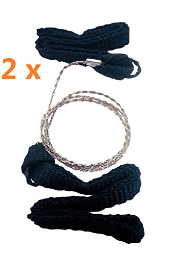 Best Price Do4U 2 pcs Pocket Chain Wire Saws, Stainless Steel Portable Universal Survival Camping Ha...