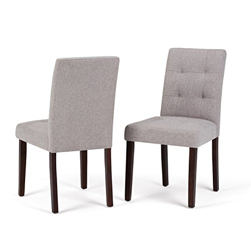 Simpli Home Andover Dining Chair, Cloud Grey (Set of 2)