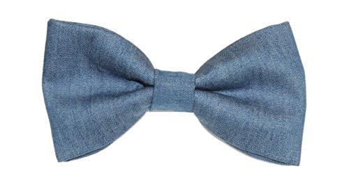 On amy2004marie Denim Bowtie Cotton Tie Medium Men's Bow Blue Clip wOzI1qxa