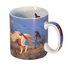 Reflective Art Inc Wild Horses Boxed Coffee Mug, 16 oz