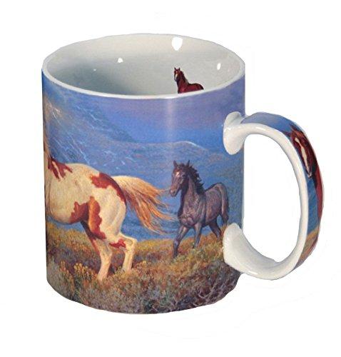 Reflective Art Wild Horses Boxed Coffee Mug, 16 oz