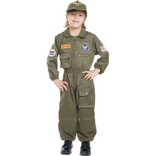 Air Force Pilot Children's Costume Size: Toddler 4 - Top Gun Costume Baby