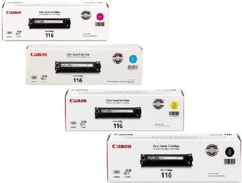 Canon 116 Combo Pack Of 4 Color Toners Manufacture...