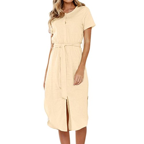 Colonial Eyelet (Womens Dress, Limsea Summer Short Sleeve Wrap Dress Crew Neck Tie Wasit Slim Maxi Dress)