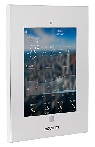 Mount-It! Tablet Wall Mount with Anti-Theft Locking Function for Public Displays, Fits iPad, iPad 2, 3, 4, iPad Air, iPad Air 2, iPad with Retina Display, iPad Pro 9.7, or 9.7 Inch Screen Tablets