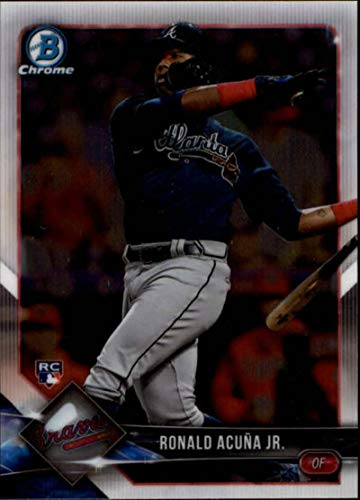 2018 Bowman Chrome #40 Ronald Acuna Jr. RC Rookie Atlanta Braves MLB Baseball Trading Card