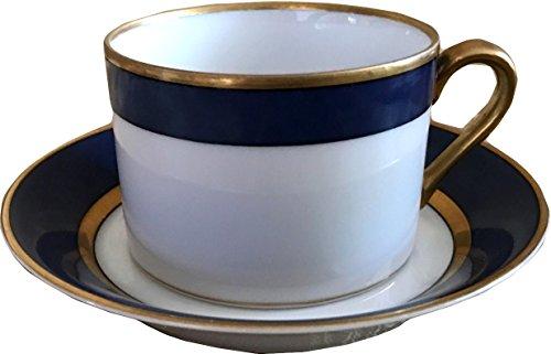 Fitz and Floyd Renaissance Blue Cerulean Cup & Saucer - Fitz And Floyd Renaissance