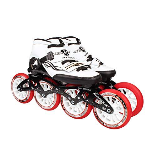 良心的人工閲覧するailj ローラースケート4輪90MM-110MM車輪調整可能なインラインスケート、ストレートスケートシューズ(4色) (色 : イエロー いえろ゜, サイズ さいず : EU 45/US 12/UK 11/JP 27.5cm)
