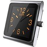 Lunatik - Modulo orologio analogico per iPod Nano 6G, colore: Argento/Arancione